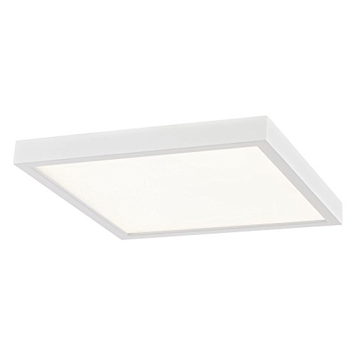 Tone Square Design (Flat LED Light Surface Mount 10-Inch Square White 3000K)