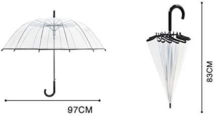 DYHOZZ Paraguas de asa Larga Transparente Paraguas de Gran ...