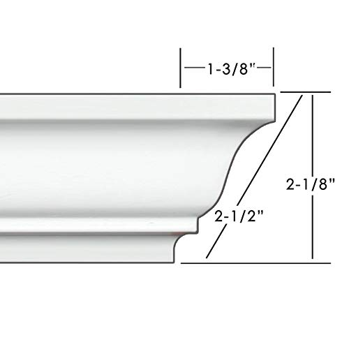 "Easy Crown Molding 2.5"" 34"
