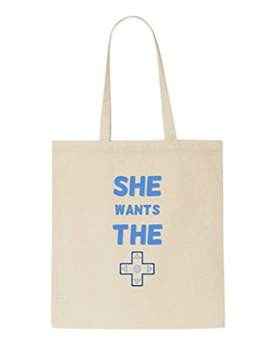 Beige Parody pad Statement Tote Bag Gaming D Shopper The Wants She wv1qIAp