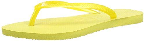 Havaianas Slim, Chanclas Mujer Amarillo (Light Yellow 2531)