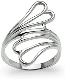 Sterling Silver Wave Wrap Fashion Ring, Comfort Jewelry for Women, Girls