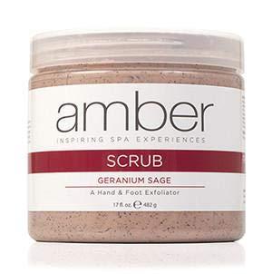 (Amber Manicure & Pedicure Geranium Sage Hand & Foot Scrub 17 oz)