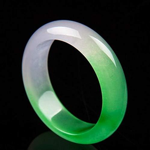 FidgetGear Chinese Pretty Genuine Natural Green & White Jade Gems Bangle Bracelet 60mm