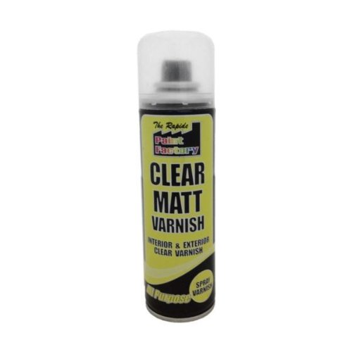 Clear Matt Varnish Spray Can 250ml Shopping Sky RP7127