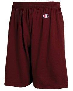 Champion Men's  6-Inch Maroon   Cotton Jersey Shorts - X-Large