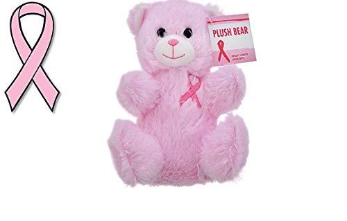 Pink Breast Cancer Awareness Ribbon Car Magnet Plush Bear