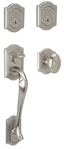 - Baldwin 85327.150.DBLC Bethpage Sectional Trim Handleset with Bethpage Lever, Satin Nickel