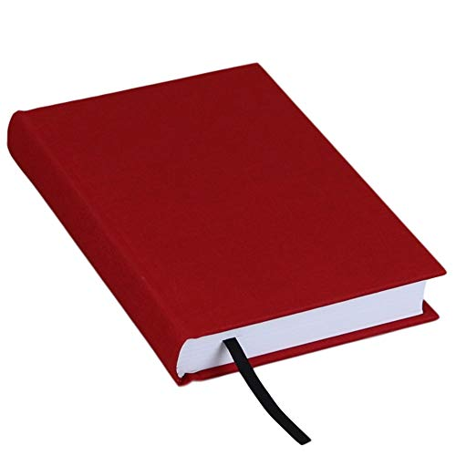Ferus & Fivel Journal Notebook Hardcover Book Lined Ruled 5 X 7 inches (Red)