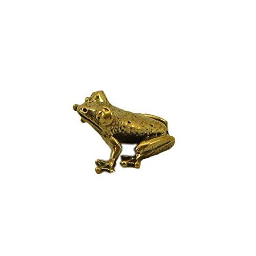 CTOC Money frog Bronze small Statuette Handmade Figurine Souvenir to attract money into the purse