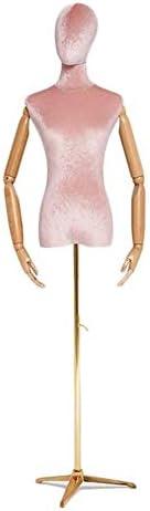 SGMYMXテーラーダミー リードデザイナーの服のファッションモデルのウェディングドレスを取るために仕立屋のマネキンのバストと腕 テーラーのダミー (Color : D)