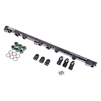 Amazon com: Radium Engineering Top Feed Fuel Rail for Toyota 1JZ-GTE
