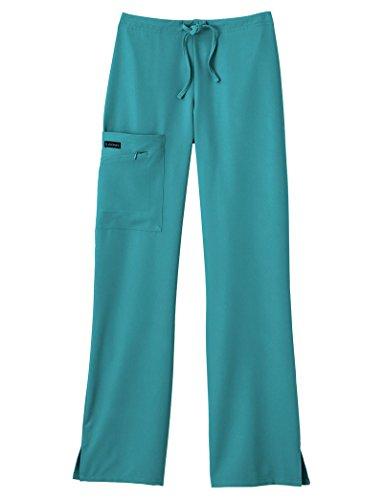Jockey Women's Plus Size Front Drawstring Pants Teal Pants 4X