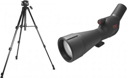 Redfield Rampage 20-60x80mm Angled Spotting Scope Kit, Black