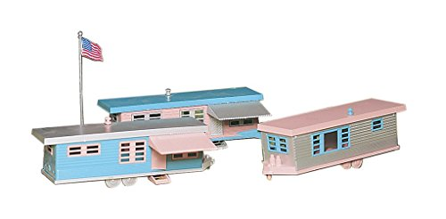 Bachmann Trains Trailer Park - 3 Trailers and Flag for sale  Delivered anywhere in USA