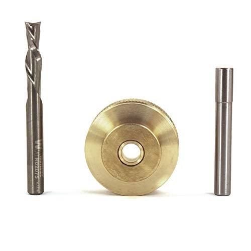(Whiteside Solid Brass Inlay Set, 1/4\