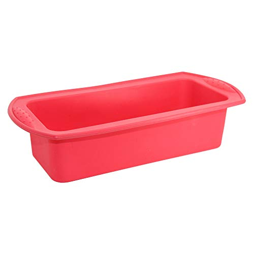 Amaping Silicone Cake Bread Maker Mold Machine Spoon Chocolate Cookie Sugar Candy Jelly Soap Baking Mould Cupcake Mold DIY Tool Kitchen Pastry Making Bake Ware (Red) ()