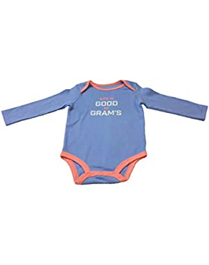 Baby Boys Life Is Good At Grams Bodysuit (Blue)
