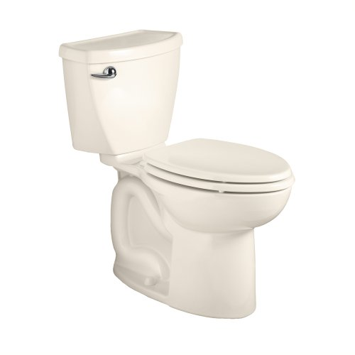 - American Standard 270AB001.222 Cadet 3 Right Height Elongated Two-Piece Toilet with 10-Inch Rough-In, Linen
