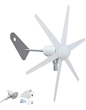 Generador de turbina de viento con control de carga de 300 W, 6 cuchillas,