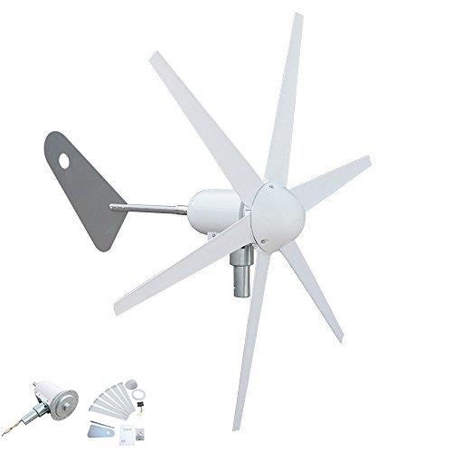 Generador de turbina de viento con control de carga de 300 W, 6 cuchillas, especial para carga de baterí a DC12 V especial para carga de batería DC12 V OCE