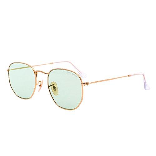 JO Metal Womens Mens Round Designer UV Protection Glasses Mirrored Lens Sunglasses J7233 transparent - Of Pair Sunglasses Nice