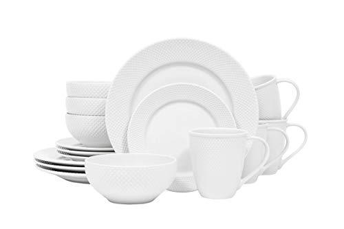 Callista White 16 Piece Dinnerware Set (Hobnail Dinnerware White)