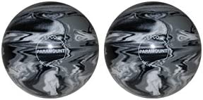EPCO Candlepin Bowling ball- Marbleized – ブラック、ホワイトグレー – 2ボール  4 1/2 inch- 2lbs. 7oz.