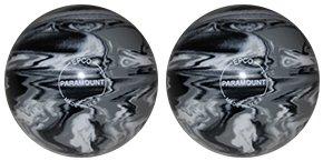 EPCO-Duckpin-Bowling-Ball-Marbleized-Black-White-Grey-2-Balls
