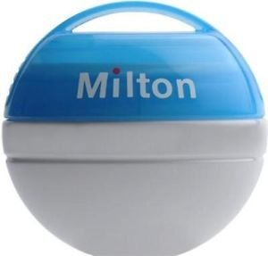Milton New Mini Baby Soother Teat Dummy Steriliser with 10 F