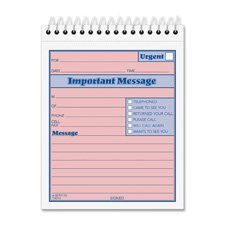 (TOPS Telephone Message Book with Fax/Mobile Section, 4-1/4 x 5 1/2, Two-Part, 50/Book)