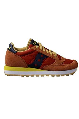 Saucony Vrouwen Jazz Originele Lage Sneaker, Grijs 379 (wordt Verbrand / Oranje)