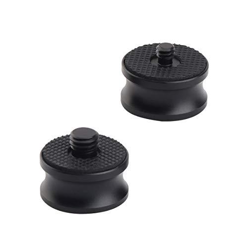 AFVO Camera Tripod Screw Adapter 2 PCS Pack, 1/4-20 (Female) to 3/8-16(Male) + 3/8-16(Female) to 1/4-20(Male) Screw Pack, Aluminium Black