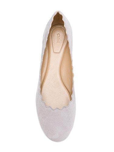 Chloé Damen CHC15U16001066 Weiss Wildleder Ballerinas