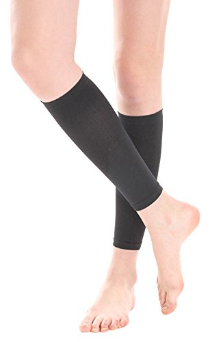 PU Health 3 Piece Compression Socks & Plantar Fasciitis Foot Sleeve Below Knee Unisex, Black, 16.0 Ounce by PU Health