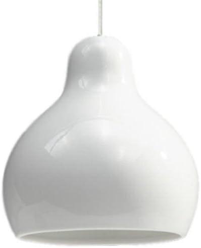 Lampara de suspensión en porcelana blanca