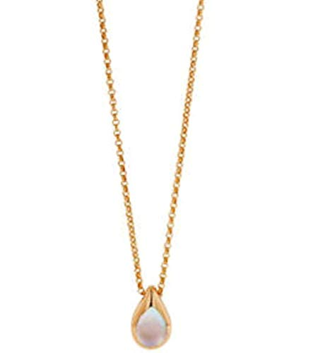 Kabana 14k Rose Gold Pink Mother of Pearl Necklace with Chain