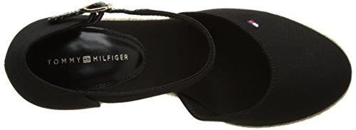 Tommy Hilfiger E1285mma 10d, Sandales Bout Ouvert Femme Noir (Black 990)