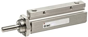 SMC NCJP Series  Pin Air Cylinder, Compact, Double Acting, Basic Style Mounting, Not Switch Ready, Cushioned