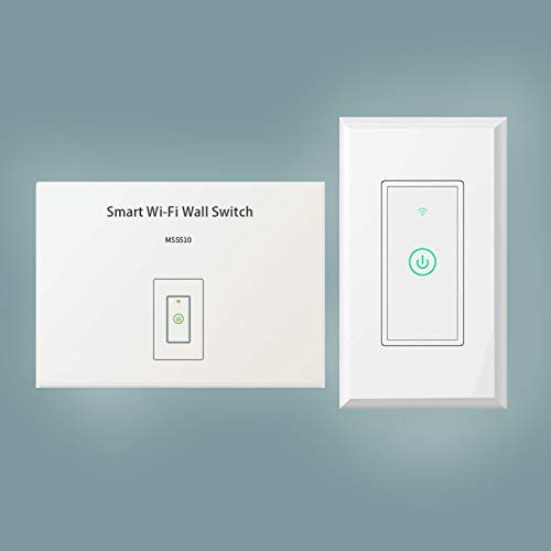 IoTeck Meross Premium WiFi Smart Wall Switch, Remote Control from Anywhere, No Hub Needed, FCC and ETL Complied, Compatible with Alexa and Google Assistant