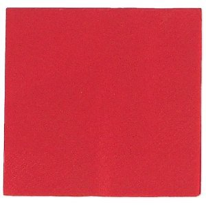 Candy Apple Red Beverage Napkin 50 Count -