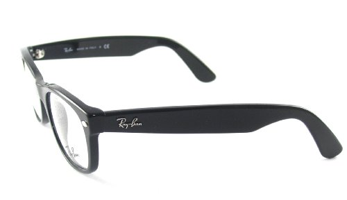 Amazon.com: Ray Ban Eyeglasses RX5184 2000 Shiny Black/Demo Lens ...