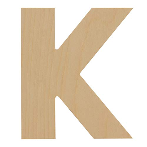 Wooden Letters - K - Unfinished 12