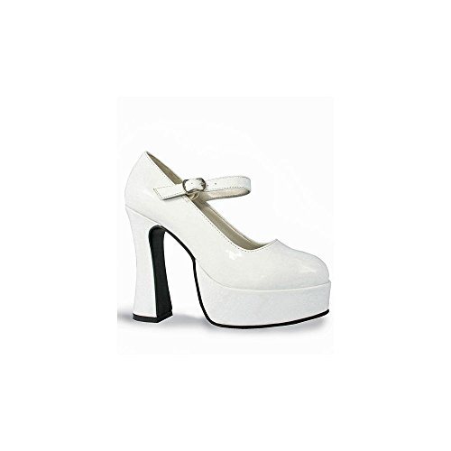 Ellie Shoes PL2638WP-M White Patent Mary Jane Shoes Adult MEDIUM (White Jane Shoes Adult)