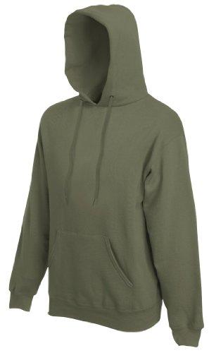 Fruit Of The Loom Classic Sweatshirt - Fruit of the Loom Men's Hoodie Sweatshirt Classic Olive XXL