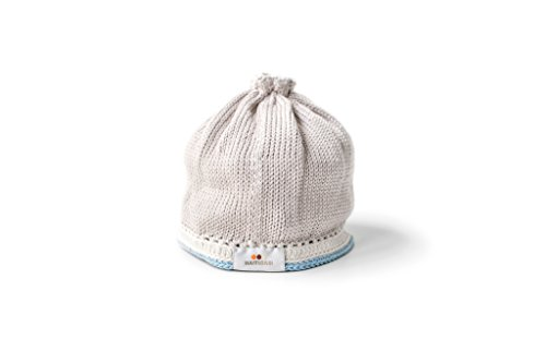 Haitibabi's Tranquility Collection Baby Hat: Taupe Light Blue, Small