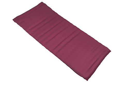 Rollmatte/ Futon 200x80cm Baumwolle/Buchweizen (Rot)
