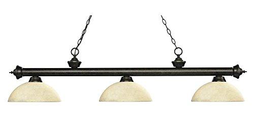 (Z-Lite Billiard Light Dome Golden Mottle Glass Shade)