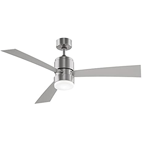 Fanimation Zonix LED 54 Inch Brushed Nickel With Brushed Nickel Blades And LED Light Kit With Remote FP4650BN