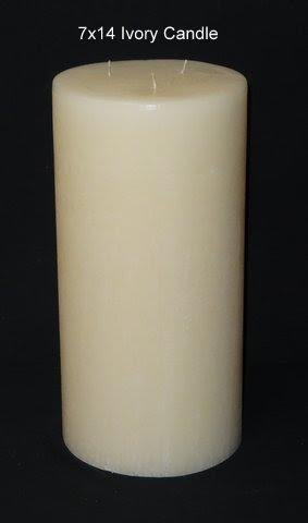 Large Pillar Candle – Ivory, 7×14, Unscented, Hand Poured (3 wick) Review